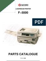 Kyocera F-5000 Parts Manual