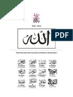ATRIBUTOS DE ALLAH (Zikr-tasbir)