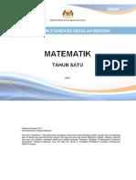 Dokumen Standard Kssr Matematik Tahun 1 Sk