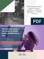 Violencia Domestica Contra La Mujer en El Estado