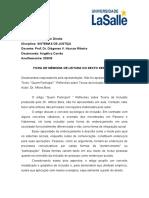 Ficha de Memória de Leitura 7º Seminário - não teve apresentação