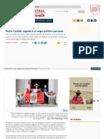 Perú Libre- Pedro Castillo regenera el mapa político peruano