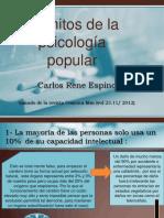 PPT -Scott Lilienfeld  50 grandes mitos de la psicologia popular
