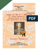 Analisi Musicale m Musumeci Co Analisi e Trascrizione Della Fuga in Mib Da Bach Cbt2 Biblioteca