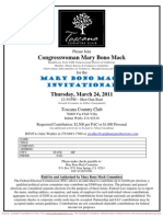 Mary Bono Mack Invitational  for Mary Bono Mack