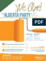 Alberta Party event flyer