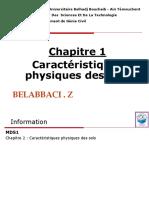 Chap1- Proprietes physiques des sols 1