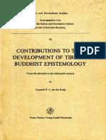 [Alt- Und Neu-Indische Studien] Leonard W. J. Van Der Kuijp - Contributions to the Development of Tibetan Buddhist Epistemology_ From the Eleventh to the Thirteenth Century (1983, Franz Steiner Verlag GmbH W