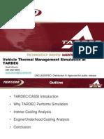 Vehicle Thermal Management Simulation