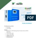 4- FICHE TECHNIQUE REGULATEUR SOLAIRE