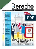 36. ESTADO DEMOCRÁTICO DE DERECHO Y FORMA REPUBLICANA DE GOBIERNO