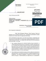 Oficio de Víctor Rodríguez Monteza a la fiscal de la Nación Zoraida Ávalos