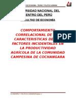 LA PRODUCTIVIDAD AGRÍCOLA DE LA COMUNIDAD CAMPESINA DE COCHANGARA