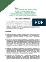 DECLARAÇÃO DE BRASÍLIA - ASPA