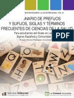 Diccionario Prefijos y Sufijos Siglas y Terminos Frecuentes de Ciencias de La Salud