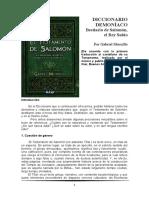 Muscillo - Diccionario Demoníaco. Bestiario de Salomón, El Rey Sabio