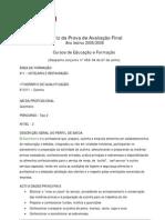 Hotelaria Restau - Cozinheiro - Matriz PAF