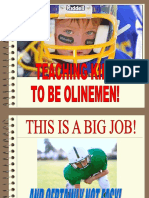 Teaching Kids to Be Offensive Linemen