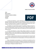 Carta a Conmebol Roldan