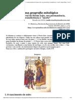 """Ricardo da Costa - Por uma geografia mitológica - A lenda medieval do Preste João, sua permanência, transferência e """"morte"""""""