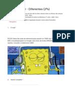 21VC Atividade 3 - Diferentes (2ªs) - Formulários Google