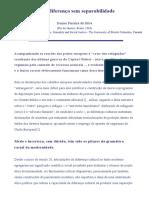 DA SILVA, Denise Ferreira - Sobre diferença sem separabilidade