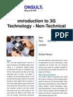 Intro to 3G (Non-Technical)