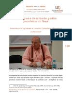Entrevista Carlo Soria, Navarra, 2014, Pauta Geral, Estrategias E Desafios De Gestao Jornalistica