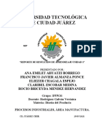 REPORTE DE RESULTADO DE APRENDIZAJE U1 Diseño