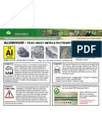 Aluminum Toxic Heavy Metals Fact Sheet