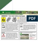 Arsenic Toxic Heavy Metals Fact Sheet