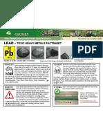 Lead Toxic Heavy Metals Fact Sheet