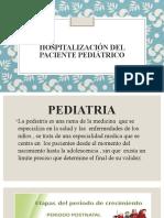 HOSPITALIZACION DEL PACIENTE PEDIATRICO 2021