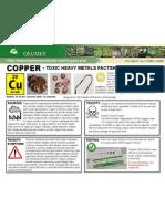Copper Toxic Heavy Metals Fact Sheet