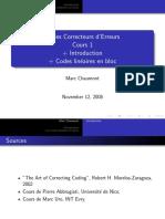 01 Codes Correcteurs d'Erreurs 1 Transparent Par Page