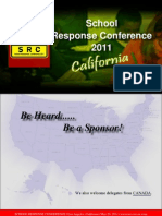 School Response Conference CALIFORNIA Sponsorship Brochure