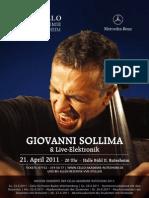 Konzertplakat Giovanni Sollima