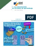 Silo.tips 01 La Comunicacion en Entornos Virtuales de Aprendizaje Unidad 1 La Comunicacion Humana Experto Universitario en Entornos Virtuales de Aprendizaje