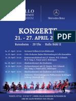 Konzertplakat Cello Akademie Rutesheim 2011