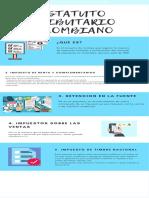 Turquesa Iconos Proceso Infografía