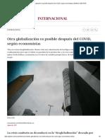Otra globalización es posible después del COVID, según economistas _ MUNDO _ GESTIÓN