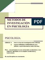 METODOS DE INVESTIGACIÓN  EN PSICOLOGÍA 2012
