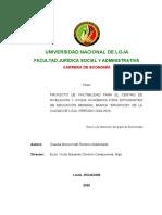 7 JUNIO 2021 EJEMPLO DE PROYECTO DE FACTIBILIDAD