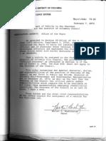 District of Columbia Mayor's Order 75-25