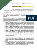 PROCESO DE TOMA DE DESICIONES EN LA SOLUCION DE CONFLICTOS