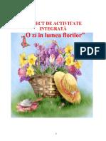 Proiect integrat florile de primavara