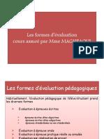 Les formes d'évaluation (1)