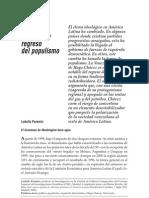 Paramio Ludolfio Giro a La Izquierda y Regreso Del Populismo