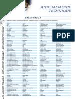 Dictionnaire français anglais robinetterie