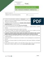 Ficha de Reconhecimento TIC 3D